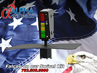 Alpha Systems AOA Falcon Angle of Attack Indicator on a swivel mount AD